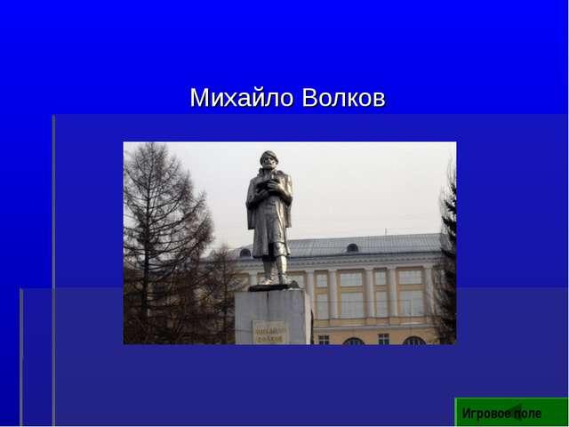 Михайло Волков Игровое поле