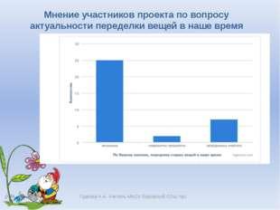Гудкова Н.А. Учитель МАОУ Боровской СОШ №1 Мнение участников проекта по вопро