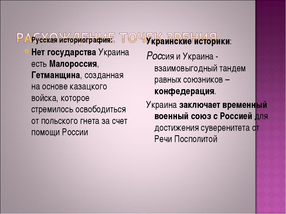 Русская историография: Нет государства Украина есть Малороссия, Гетманщина, с...