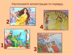 Расположите иллюстрации по порядку. 1 2 3 4
