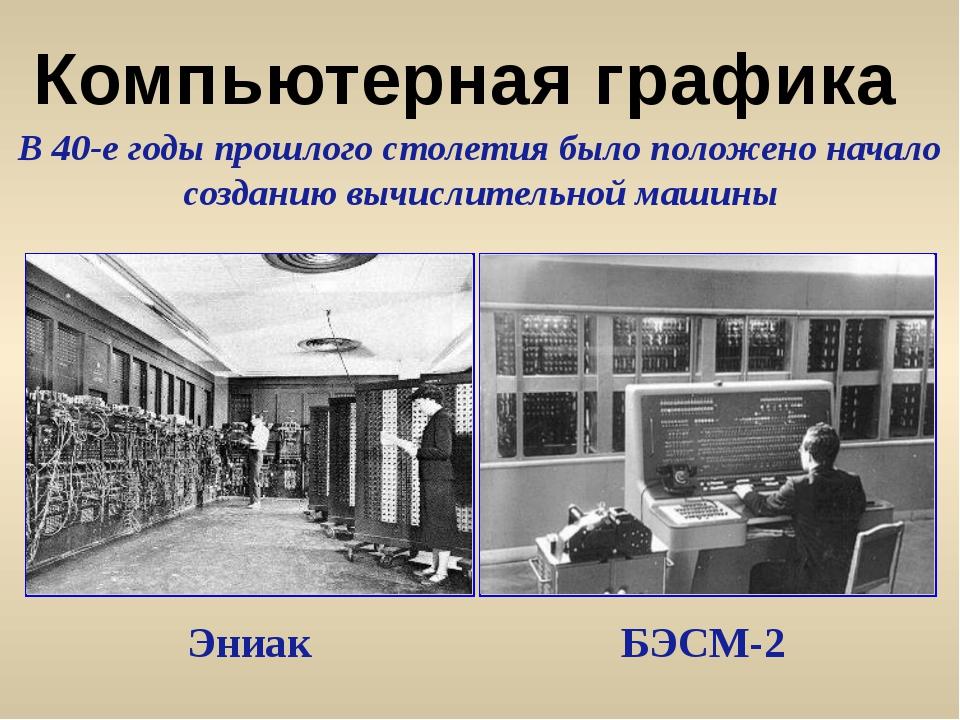 В 40-е годы прошлого столетия было положено начало созданию вычислительной м...