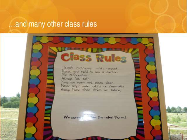 …and many other class rules