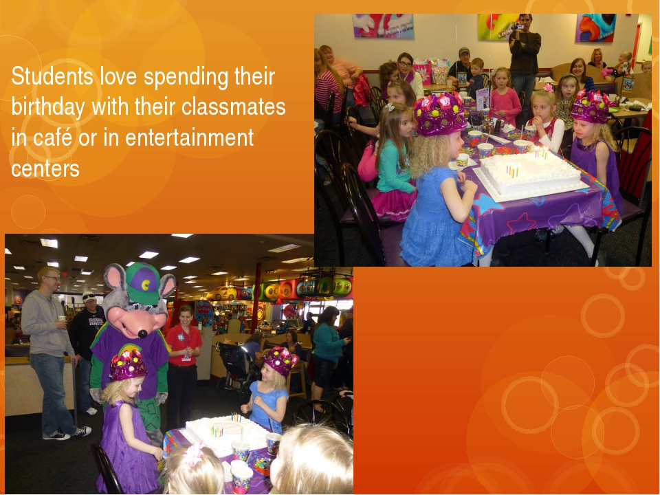 Students love spending their birthday with their classmates in café or in ent...