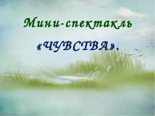 Мини-спектакль «ЧУВСТВА».