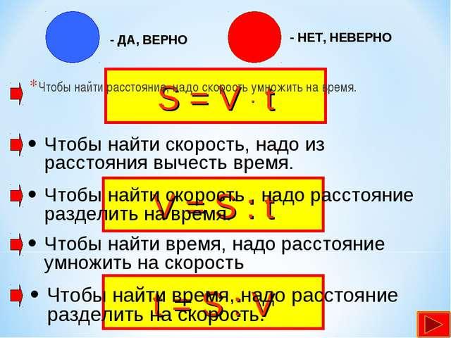 S = V . t V = S : t t = S : V Чтобы найти расстояние, надо скорость умножить...
