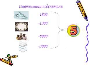Статистики подсчитали -1800 -1300 -8000 -3000