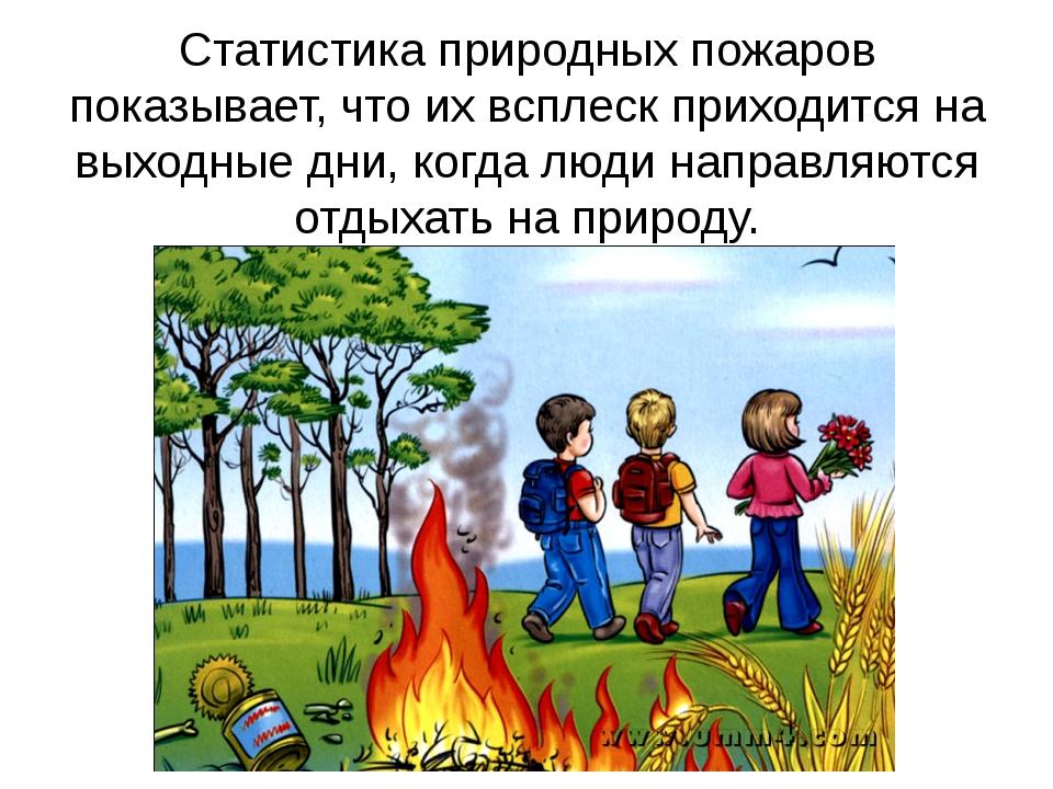 Статистика природных пожаров показывает, что их всплеск приходится на выходны...