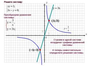 Строим в одной системе координат графики уравнений системы А теперь самостоят