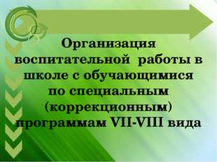 Организация воспитательной работы в школе с обучающимися по специальным (корр