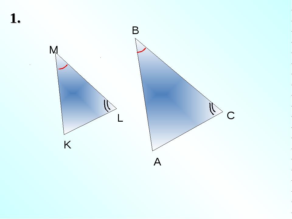 1. A B C M L K