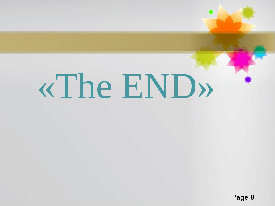 «The END» Page *