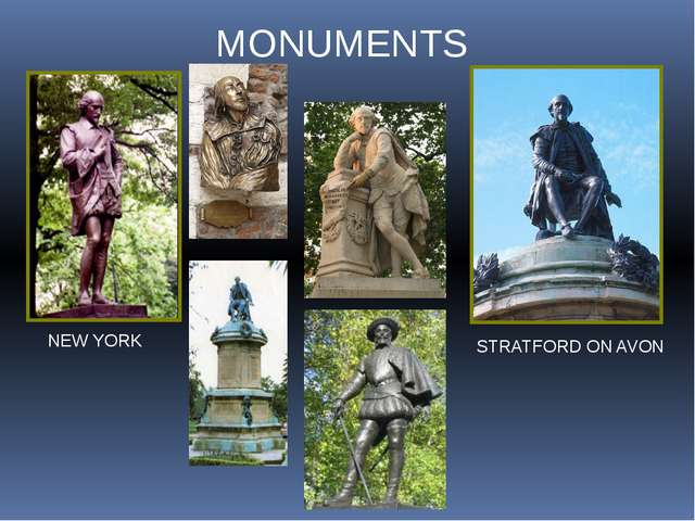 MONUMENTS NEW YORK STRATFORD ON AVON