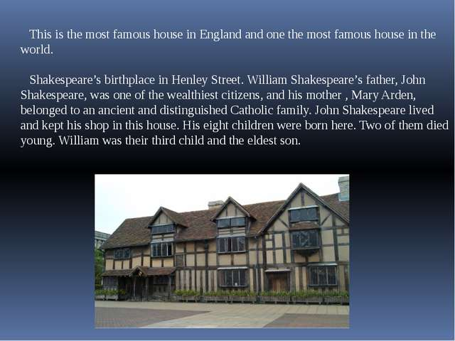 This is the most famous house in England and one the most famous house in the...
