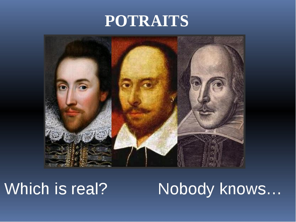 POTRAITS Which is real? Nobody knows…