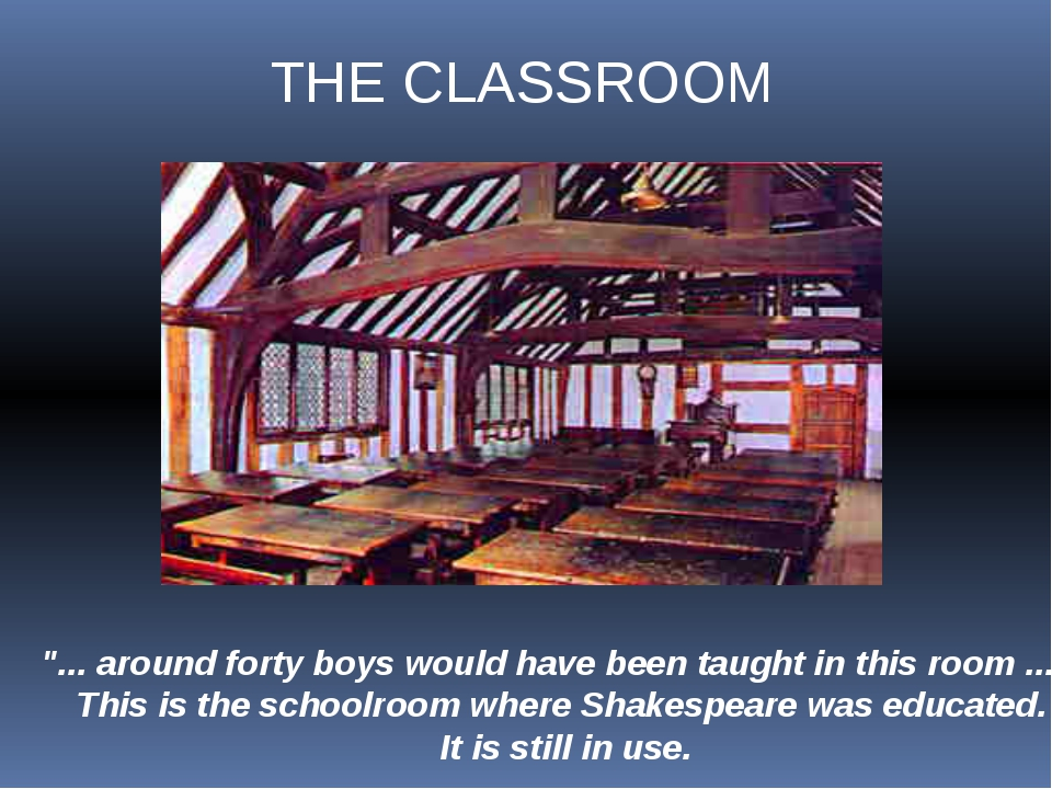"""... around forty boys would have been taught in this room ..."" This is the s..."