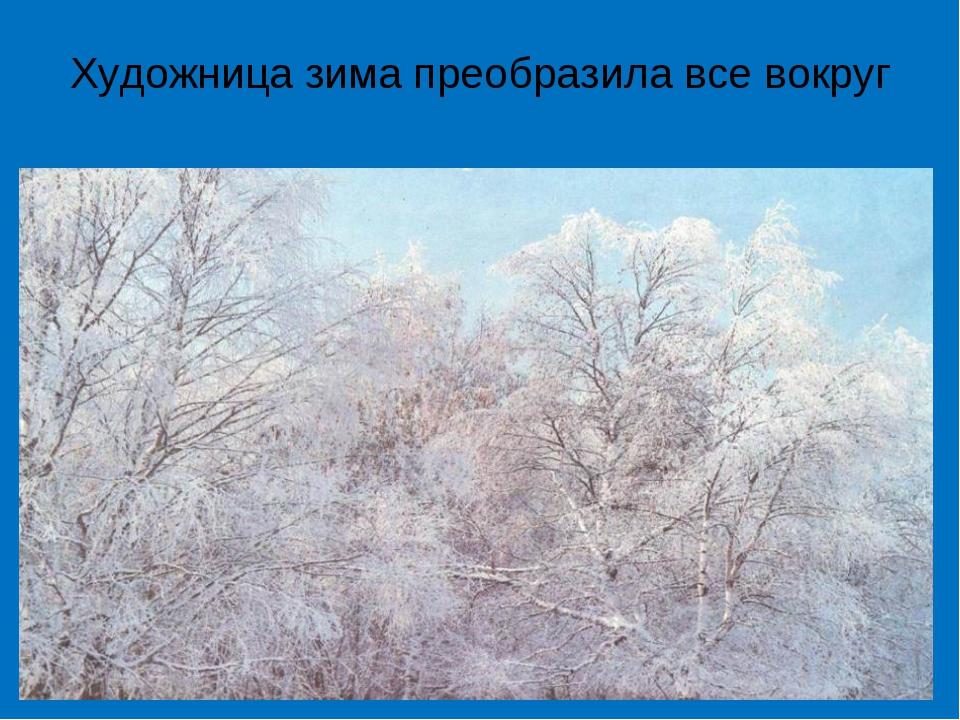 Художница зима преобразила все вокруг