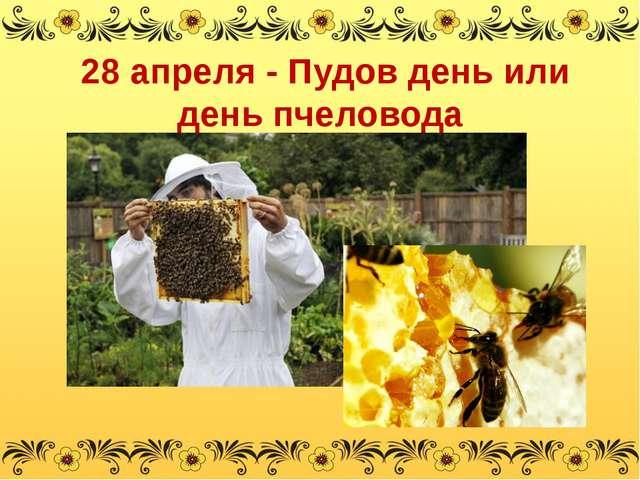 28 апреля - Пудов день или день пчеловода