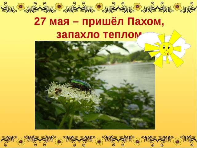 27 мая – пришёл Пахом, запахло теплом