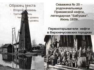 """Скважина № 20 – родоначальница Прикамской нефти, легендарная """"Бабушка"""". Июнь"""