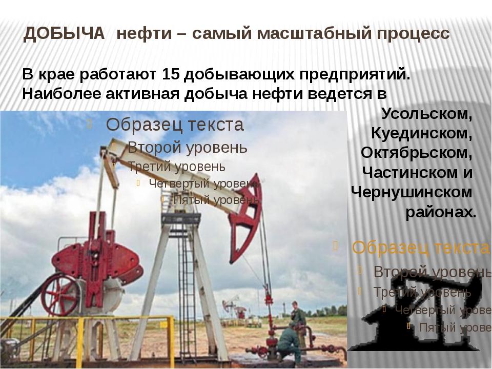 ДОБЫЧА нефти – самый масштабный процесс В крае работают 15 добывающих предпр...