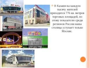 В Казани на каждую тысячу жителей приходится 776 кв. метров торговых площаде
