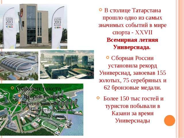 В столице Татарстана прошло одно из самых значимых событий в мире спорта - X...
