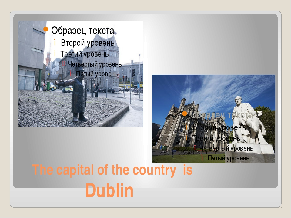 The capital of the country is Dublin