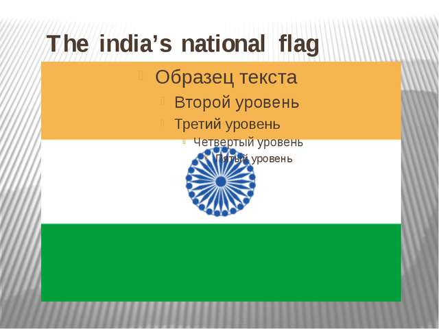 The india's national flag