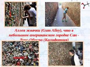 Аллеяжвачки(Gum Alley), что в небольшом американском городке Сан - Луис-Оби