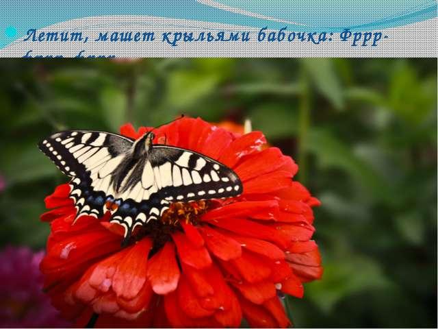 Летит, машет крыльями бабочка: Фррр-фррр-фррр…