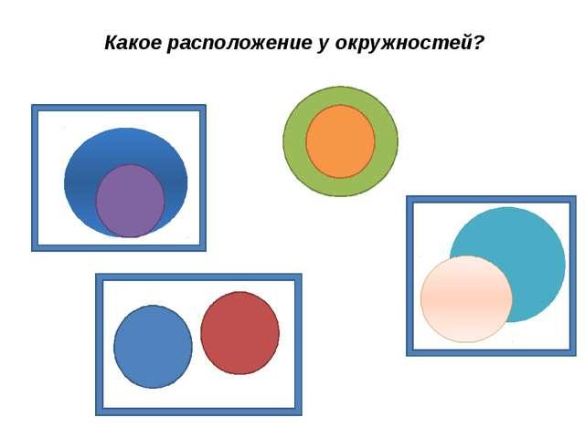 Какое расположение у окружностей?