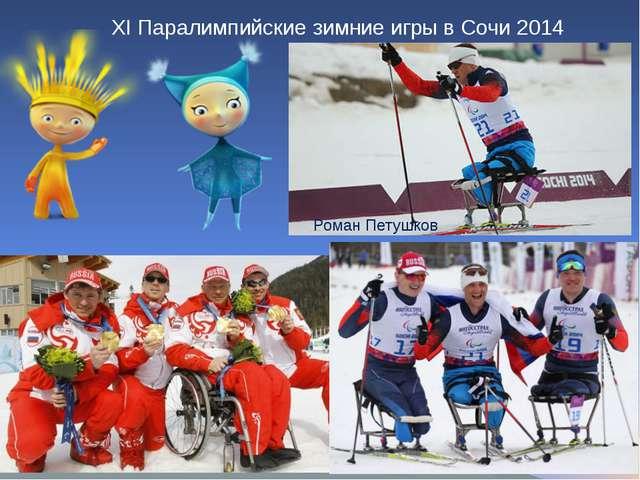 XI Паралимпийские зимние игры в Сочи 2014 Роман Петушков