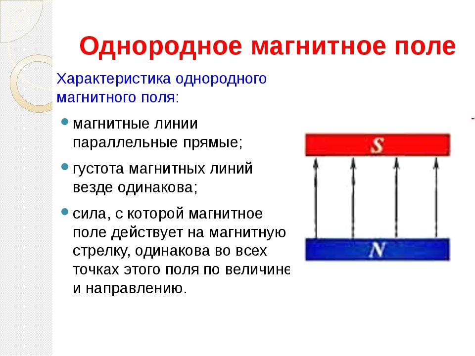 Магнитные явления и магнитное поле