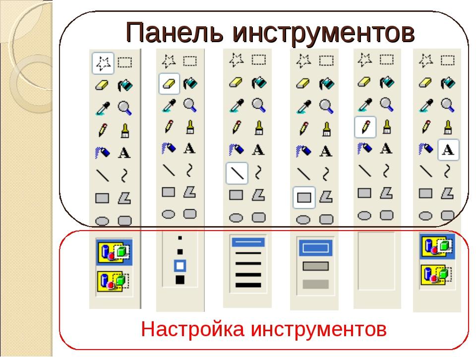 Панель инструментов Настройка инструментов