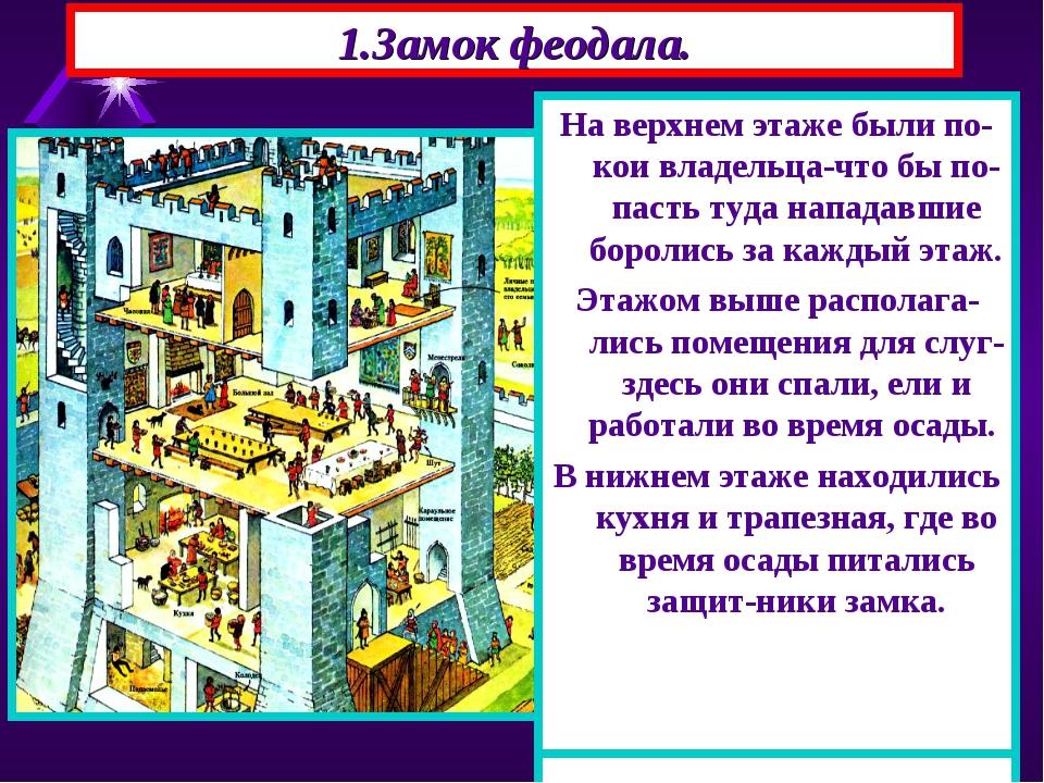 1.Замок феодала. В центре замка располагался донжон-главная башня, состоящая...