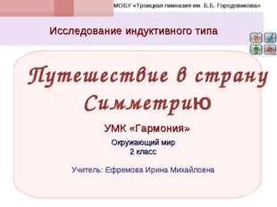 Путешествие в страну Симметрию Исследование индуктивного типа УМК «Гармония»