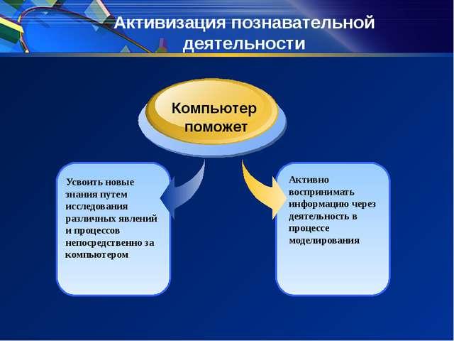 Активизация познавательной деятельности Усвоить новые знания путем исследован...