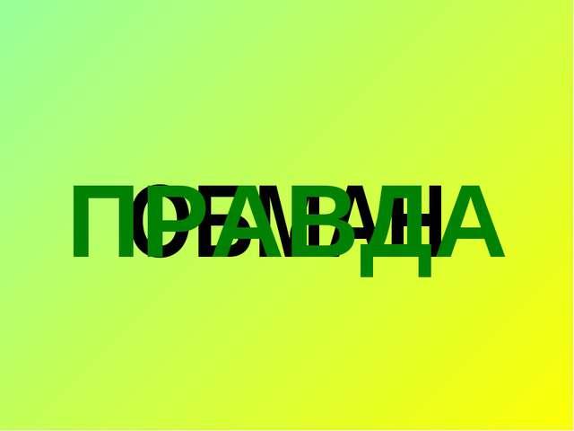 ОБМАН ПРАВДА