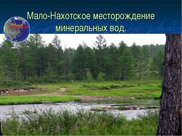 Мало-Нахотское месторождение минеральных вод.