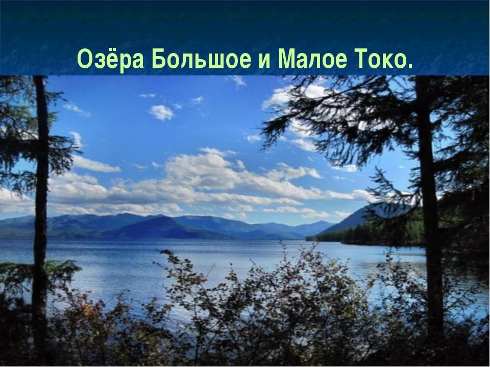 Озёра Большое и Малое Токо.