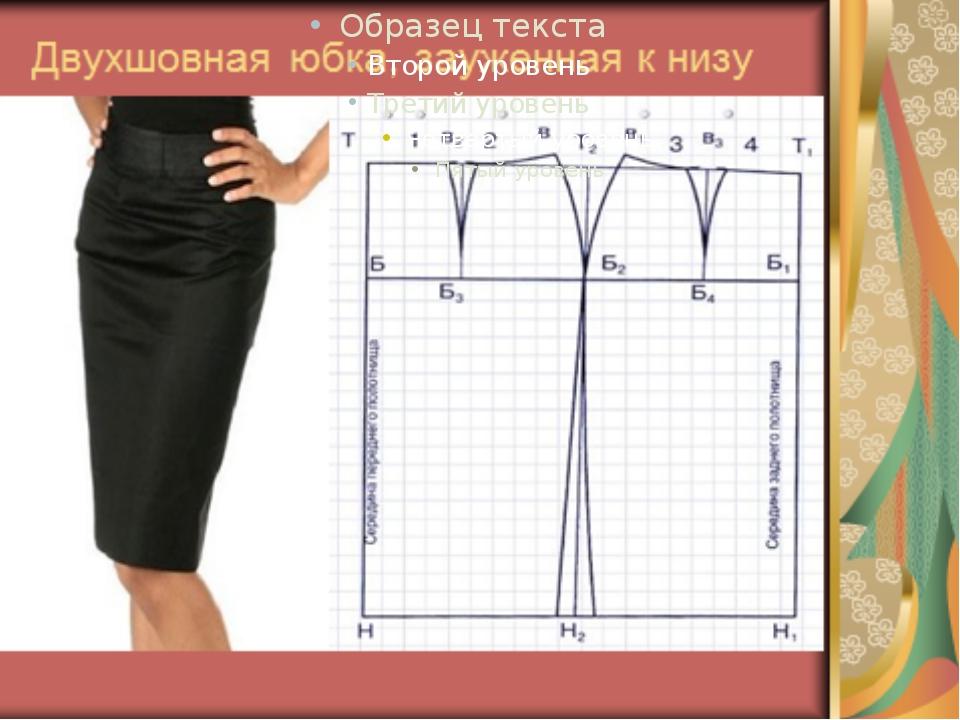 Трехшовная юбка