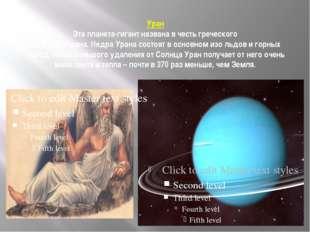 Уран Эта планета-гигант названа в честь греческого бога неба Урана. Недра Ура