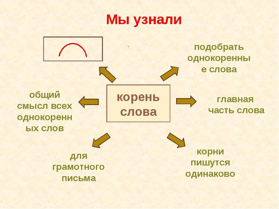 корень слова подобрать однокоренные слова главная часть слова корни пишутся о...