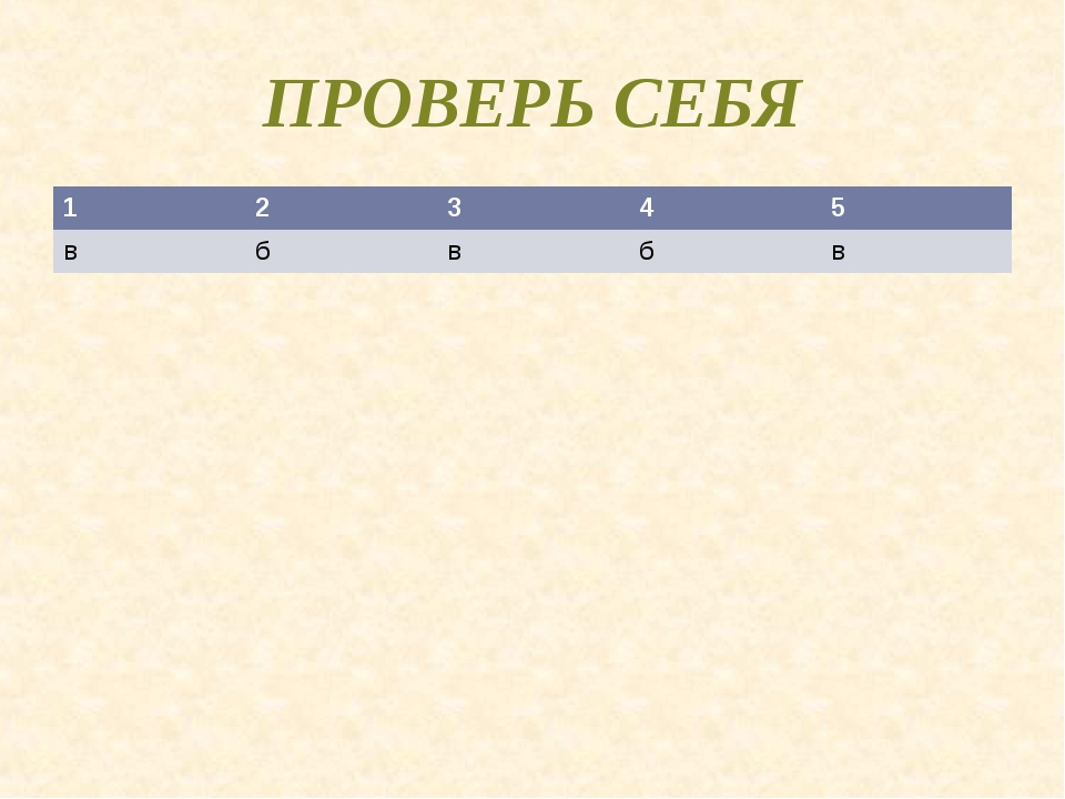 ПРОВЕРЬ СЕБЯ 12345 вбвбв