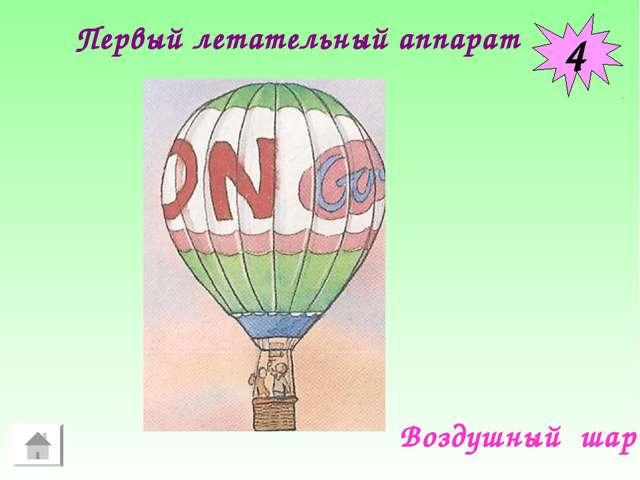 4 Воздушный шар Первый летательный аппарат