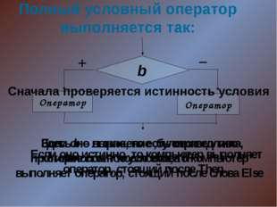 Пример 1. Read (x); IF x > 0 Then a:=x+1 Else a:=x-1;