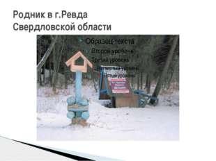 Родник в г.Ревда Свердловской области
