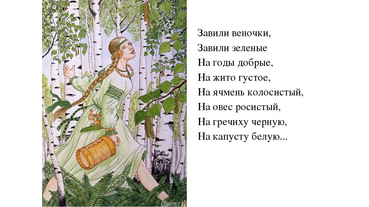 Завили веночки, Завили зеленые На годы добрые, На жито густое, На ячмень коло...