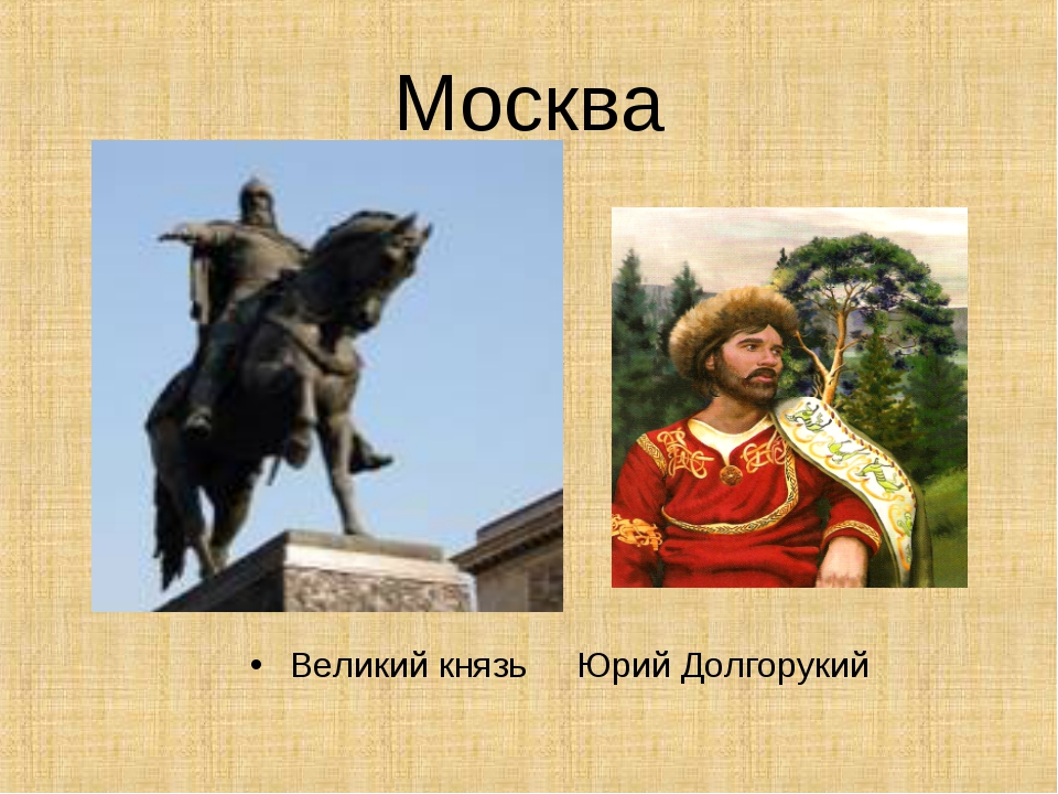 Москва Великий князь Юрий Долгорукий