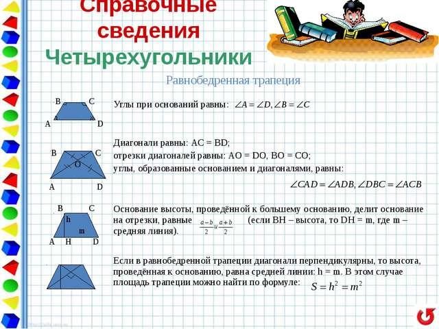 треугольники четырехугольники правильные многоугольники окружность векторы СП...